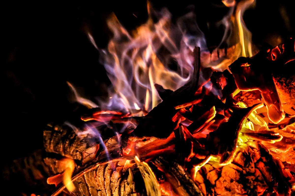 Light a fire.