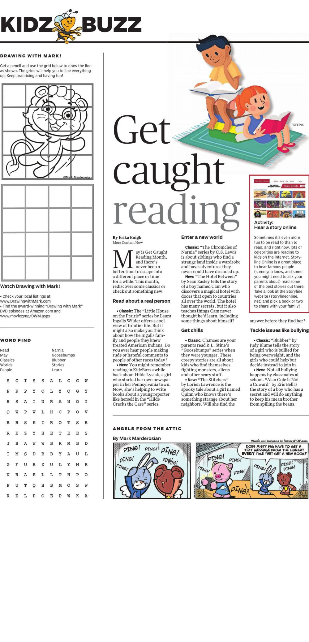 Kids Buzz: Get Caught Reading