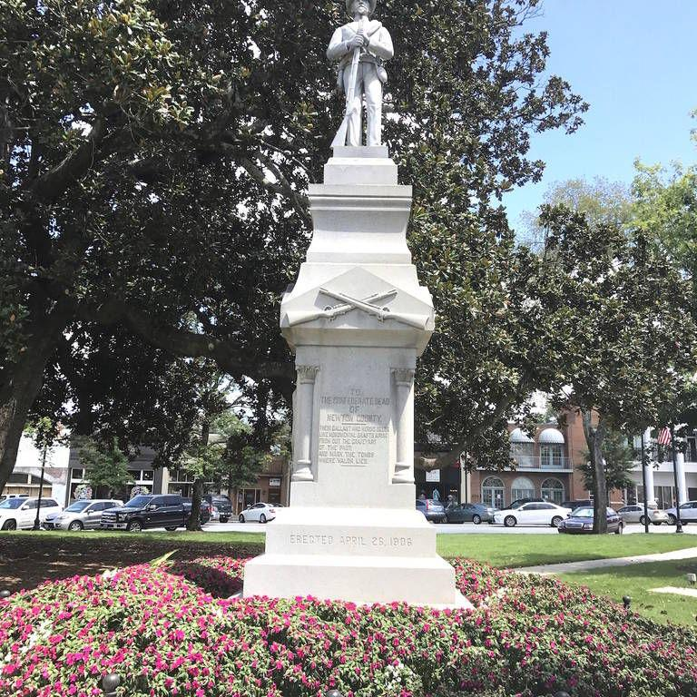 Newton County Confederate memorial statue