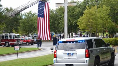 RCSO Dep. Steven Minor remembered by community with procession Monday morning