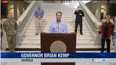 LIVE: Georgia Governor Brian Kemp delivers coronavirus update