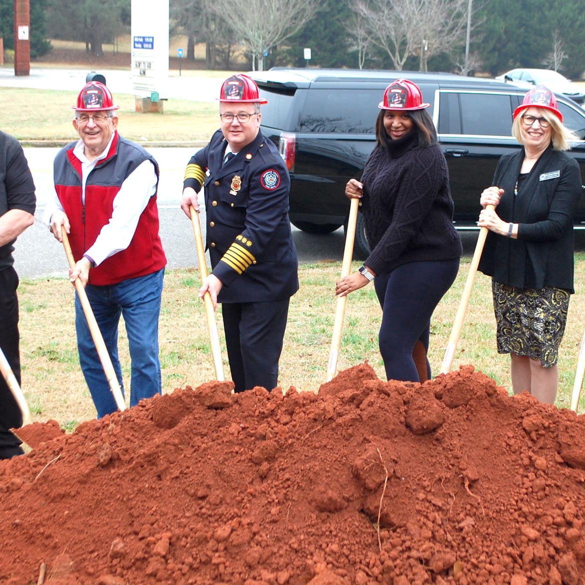 Groundbreaking held for new Rockdale County Fire Station 3