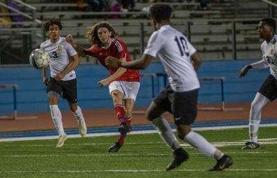 Jamison hat trick leads Heritage soccer past Alcovy 5-2