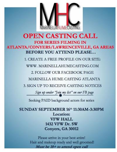Atlanta Casting Group To Hold Casting Call In Conyers Local News