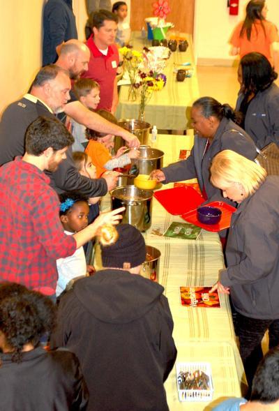 Montessori School of Covington students serve annual chili luncheon