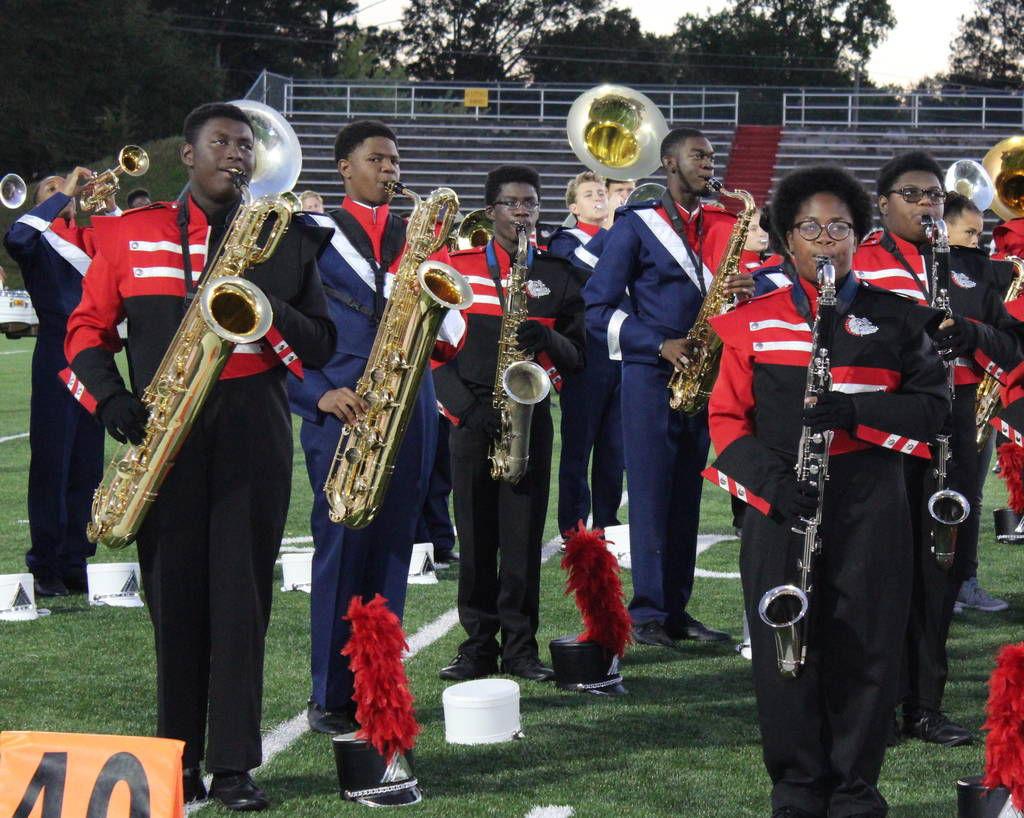 Rockdale high school bands show off talents