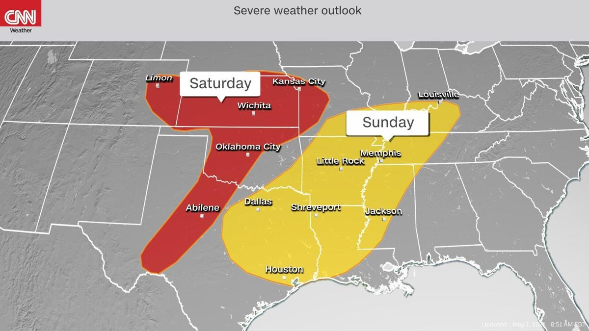 Storms, snow and sunshine are all in the forecast this Mother's Day weekend