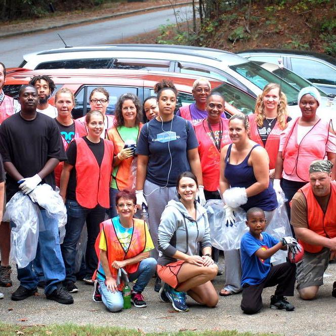 Volunteers clean up Rockdale for Rivers Alive