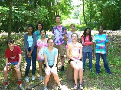 Montessori middle school students on Cricket Frog Trail.jpg