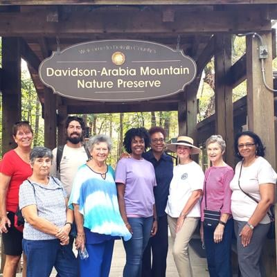 Conyers Garden Clubs enjoys Davidson Arabia Mountain hike