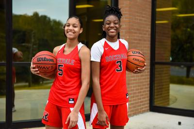 Rockdale County's Alana Moore and Shaquice May