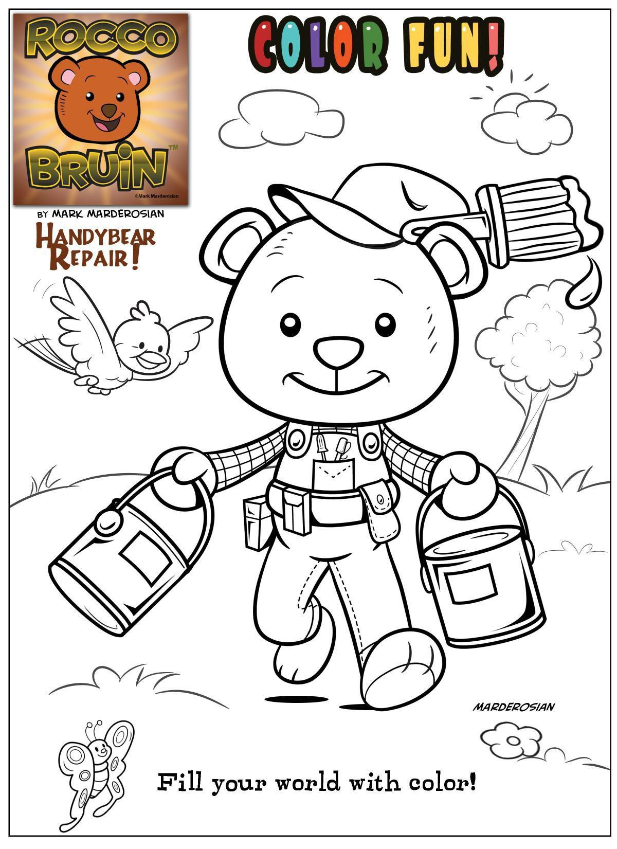 Coloring with Rocco Bruin