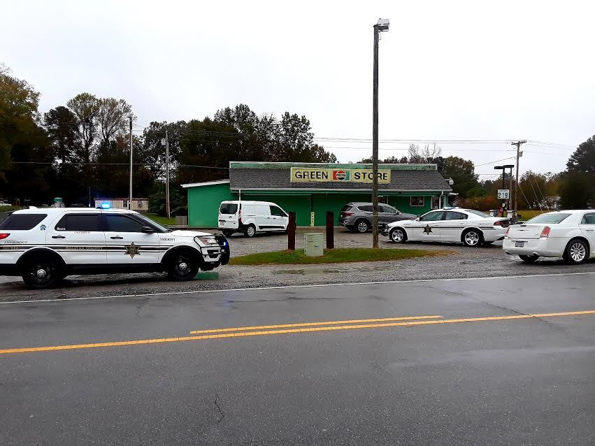 Sheriff's vehicles at Green Store