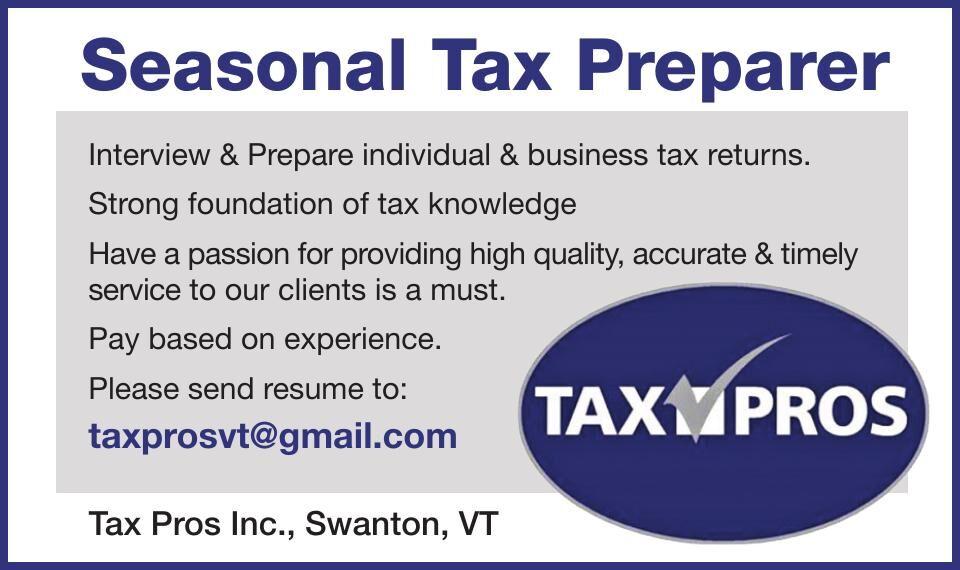 Seasonal Tax Preparer