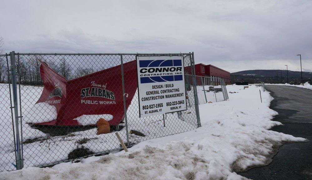 St. Albans Town Dept. of Public Works garage, 1-25-2020