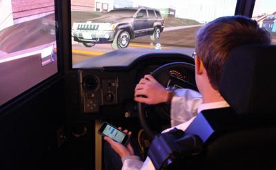 Simulating distracted driving