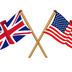 British - American Flags