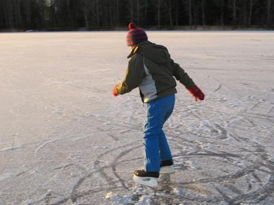 Outdoor Ice skater