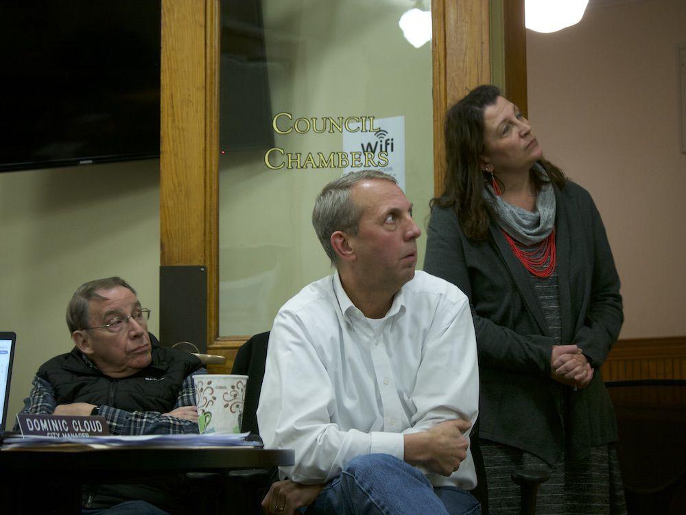Al Voegele, Tim Hawkins and Carrie Johnson, 2-10-2020