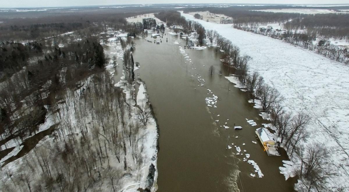 Missisquoi River floods near Swanton, 2018