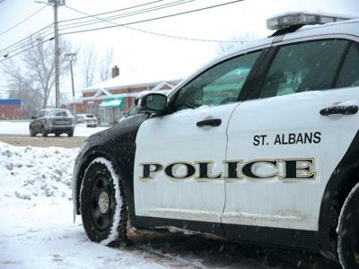 St. Albans Police Dept. cruiser on North Main, 2-7-2020