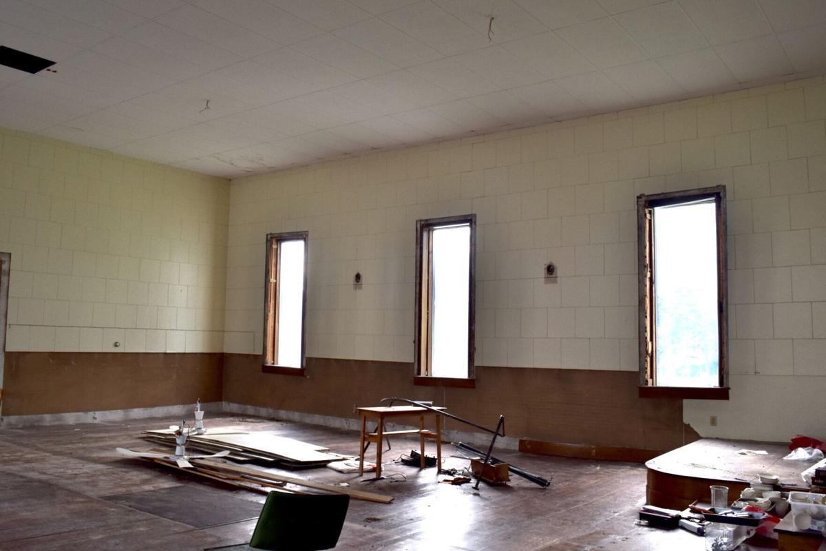 The chapel inside the West Enosburg United Methodist Church