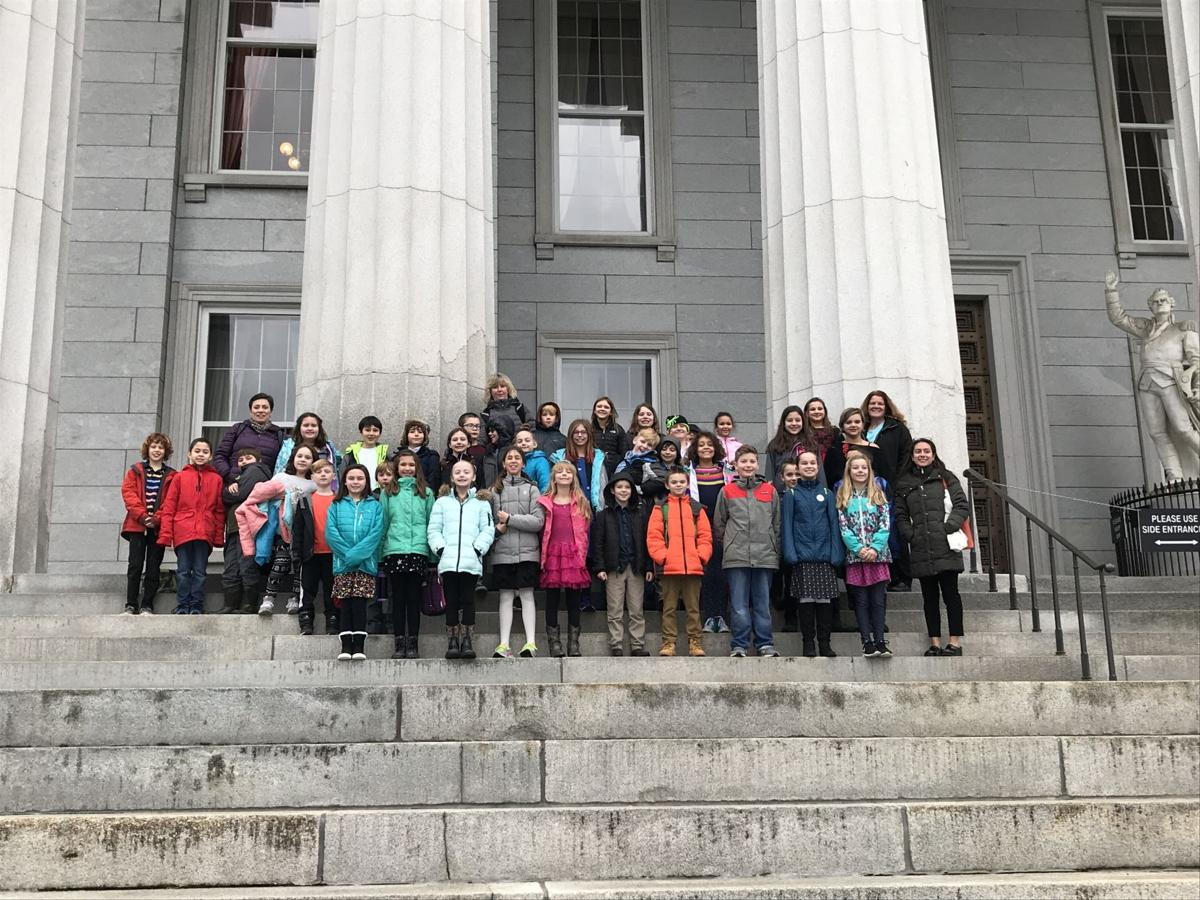 Founders Memorial fourth graders make presentation at Vermont State House