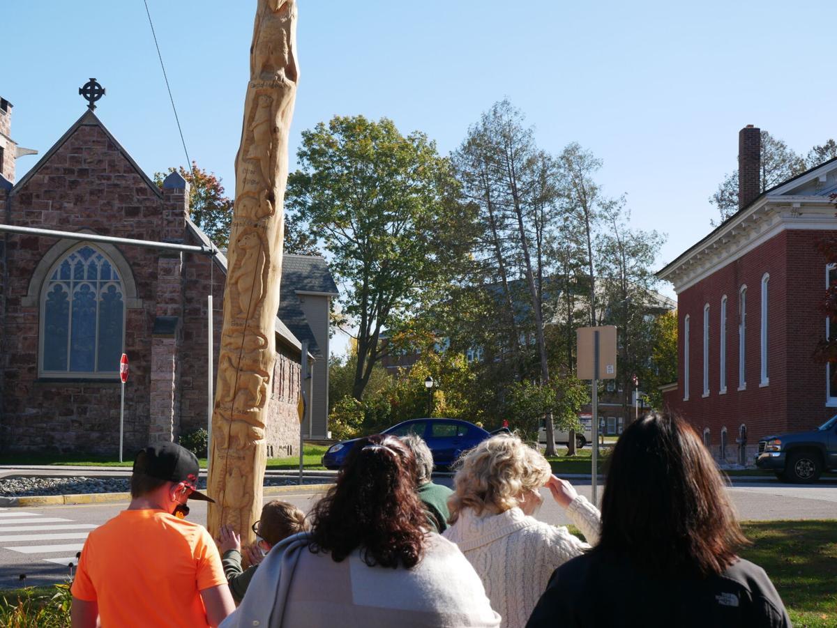 Abenaki Totem Pole, Swanton, 10-13-2020