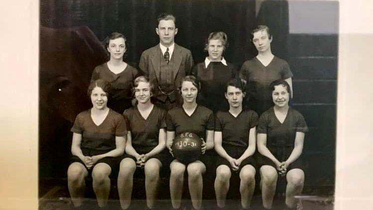 Comets celebrate 1934 BFA St. Albans graduate Emma (Collette) Fay's 105th birthday