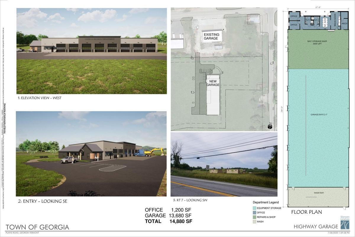 Garage rendering, Town of Georgia - 9-22-2020