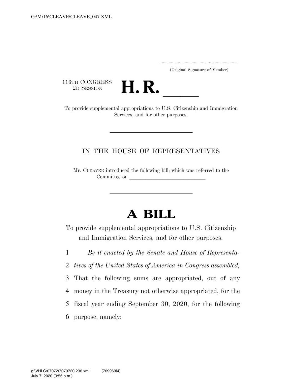 USCIS funding bill
