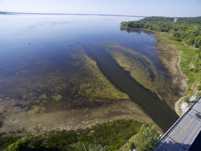 Rock River empties into Missisquoi Bay, 9-13-2018