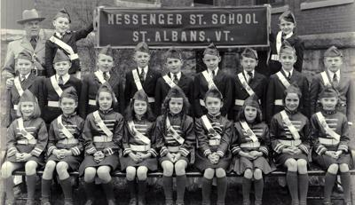 Crossing guards at the Messenger Street School