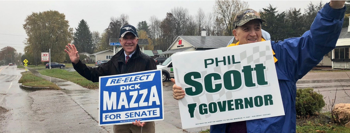 Dick Mazza and Phil Scott