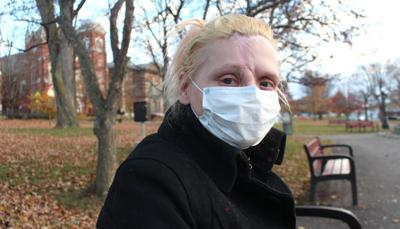 Woman behind the mask: Sonja Sayers coping with effects of cancer