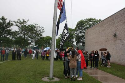 BLM flag raising Milton