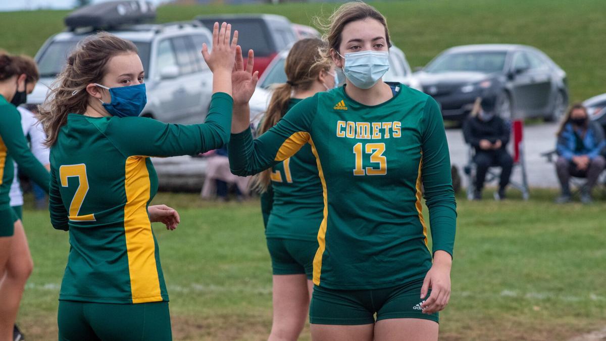 Comet volleyball recognizes seniors