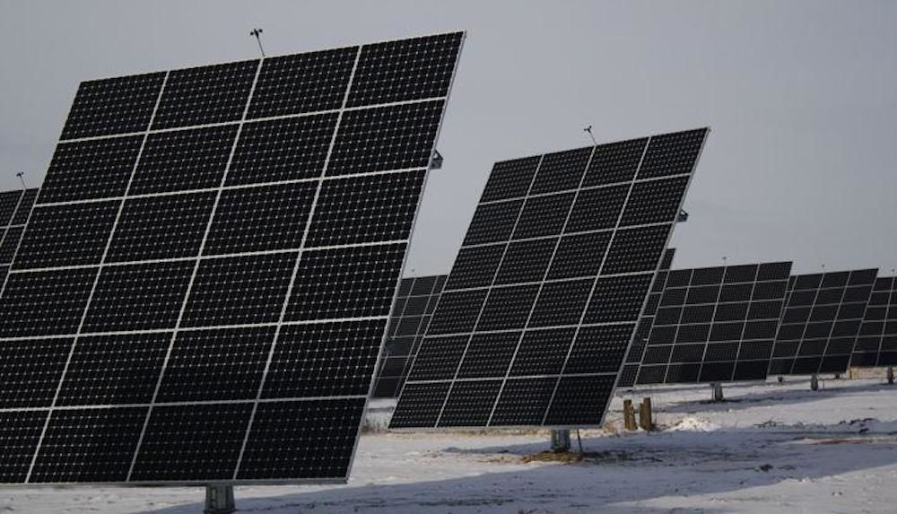 Solar panels near Northwest State Corrections Facility, 1-20-2015