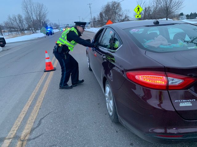 St. Albans Police Department, Traffic Checkpoint, Feb. 2020