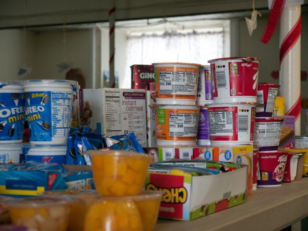 Food at Fairfax food shelf, 5-6-2020