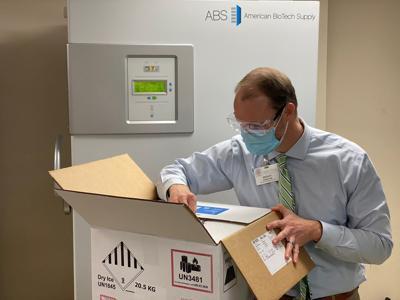 COVID-19 Vaccine arrival at UVMMC