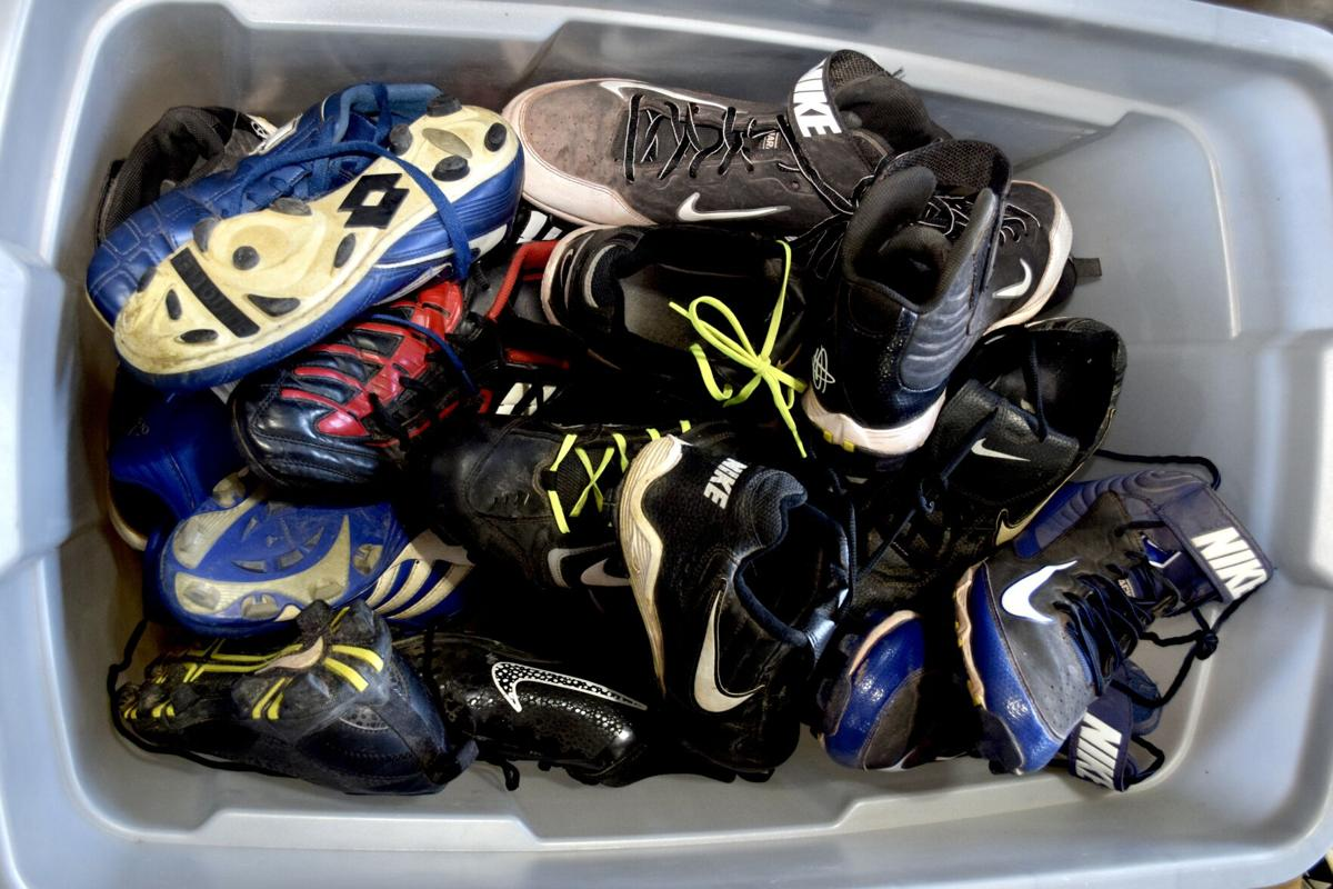 Cleats to be cleaned.JPG