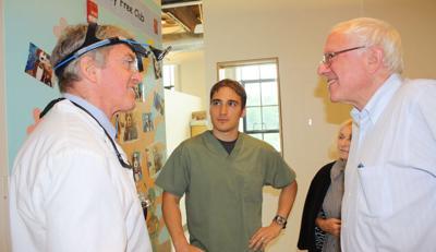 Sen. Bernie Sanders visits the NOTCH clinic in Richford, 7-3-2013