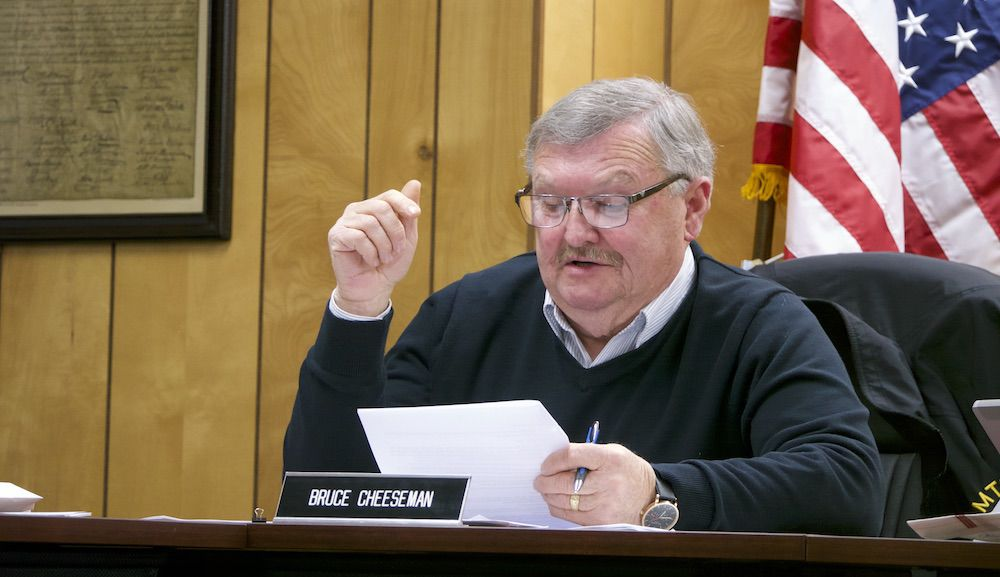 Selectboard vice chair Bruce Cheeseman, 12-19-2019