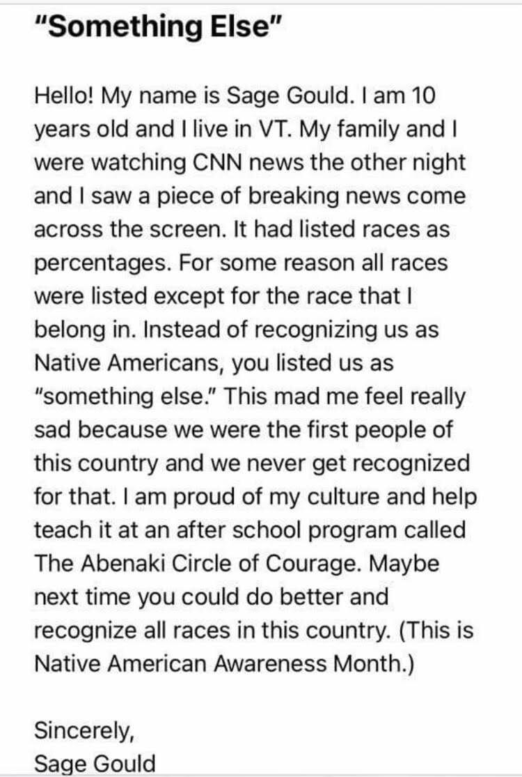 Sage Gould, Message to CNN, 2020.jpg