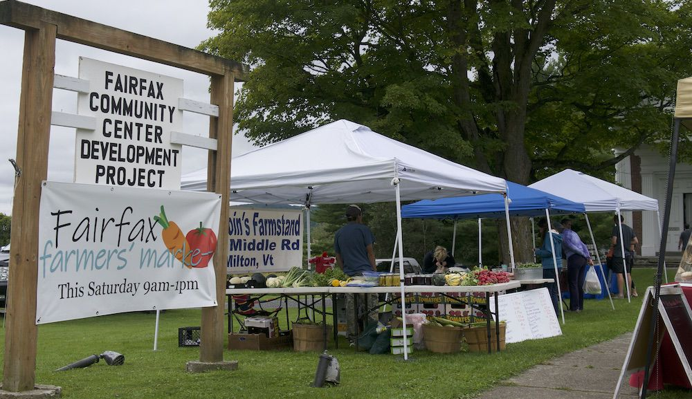 Farmers Market on the Fairfax Community Center Lawn, 8-24-2019
