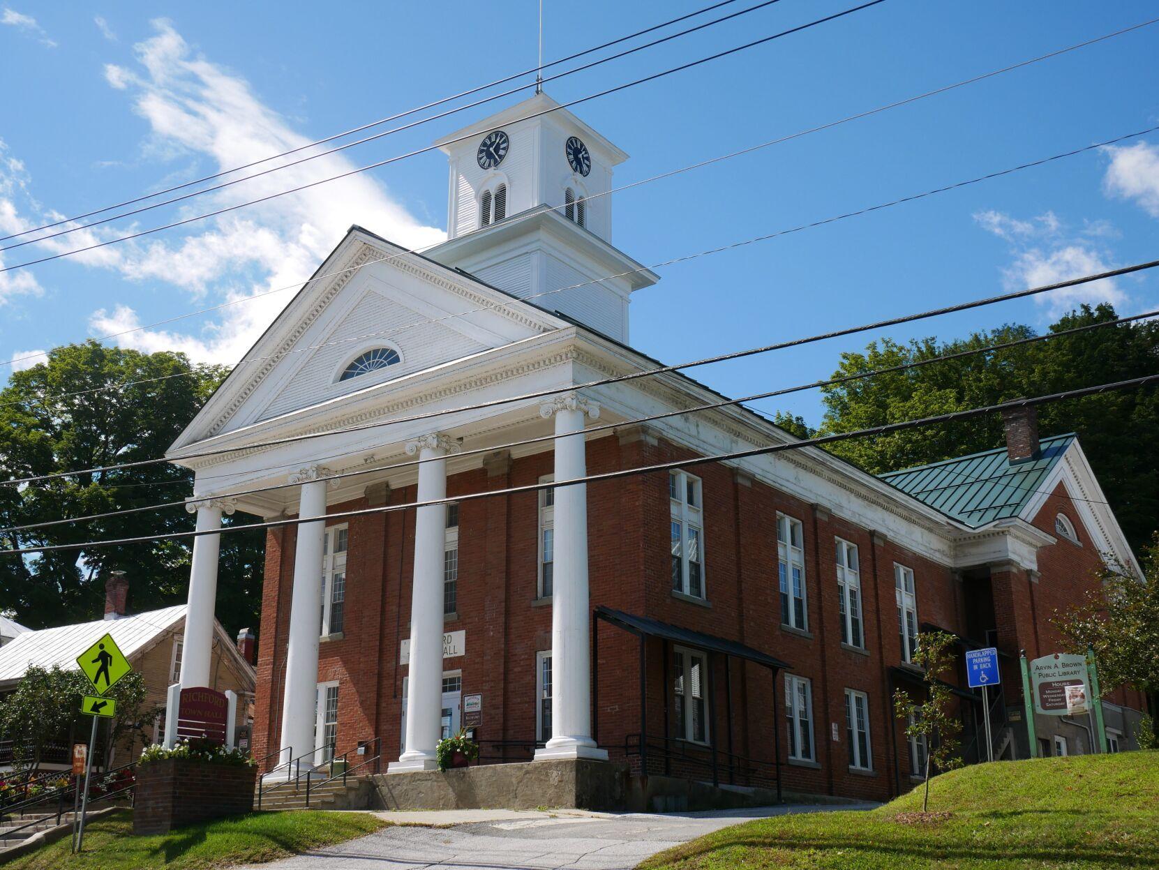 Richford Town Hall, Richford, 8-28-2020