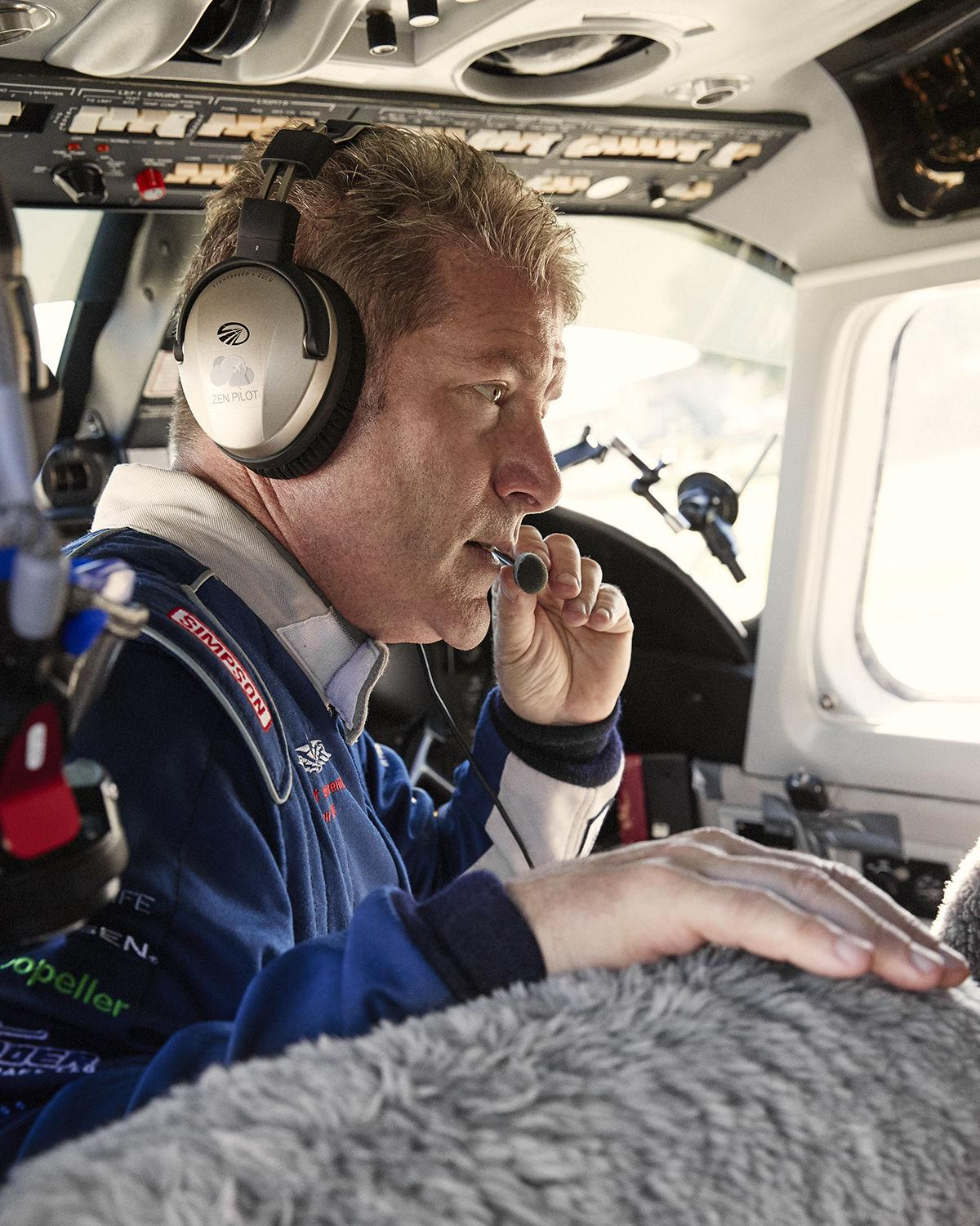 Pole to Pole Pilot – Robert in Plane