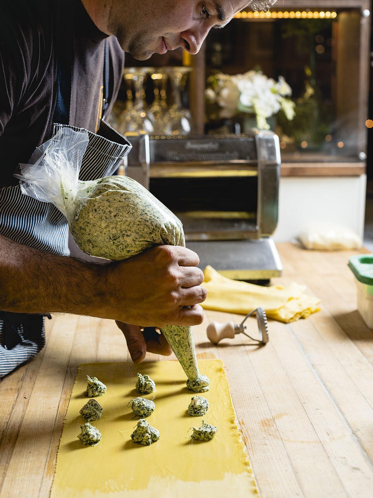 Cori Pastificio / Making Ravioli