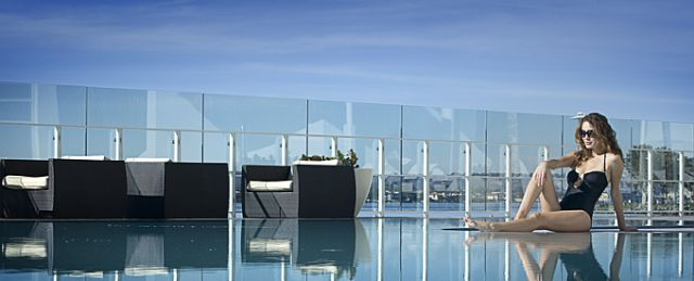 San Diego Hilton: The City's first and only heated salt water pool, poolside mani/pedis and massages in a private cabana.